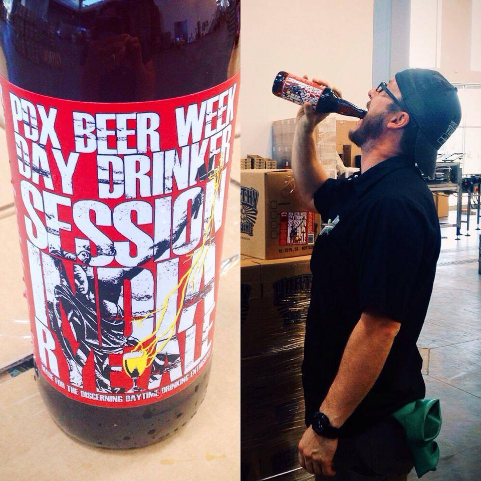Worthy & HUB Day Drinker Session Rye IRA (photo courtesy of Worthy's Facebook page)