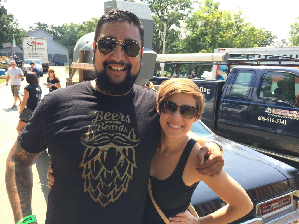 Goose Island's Jesse Valenciana & Patti Mandel at the Great Taste of the Midwest