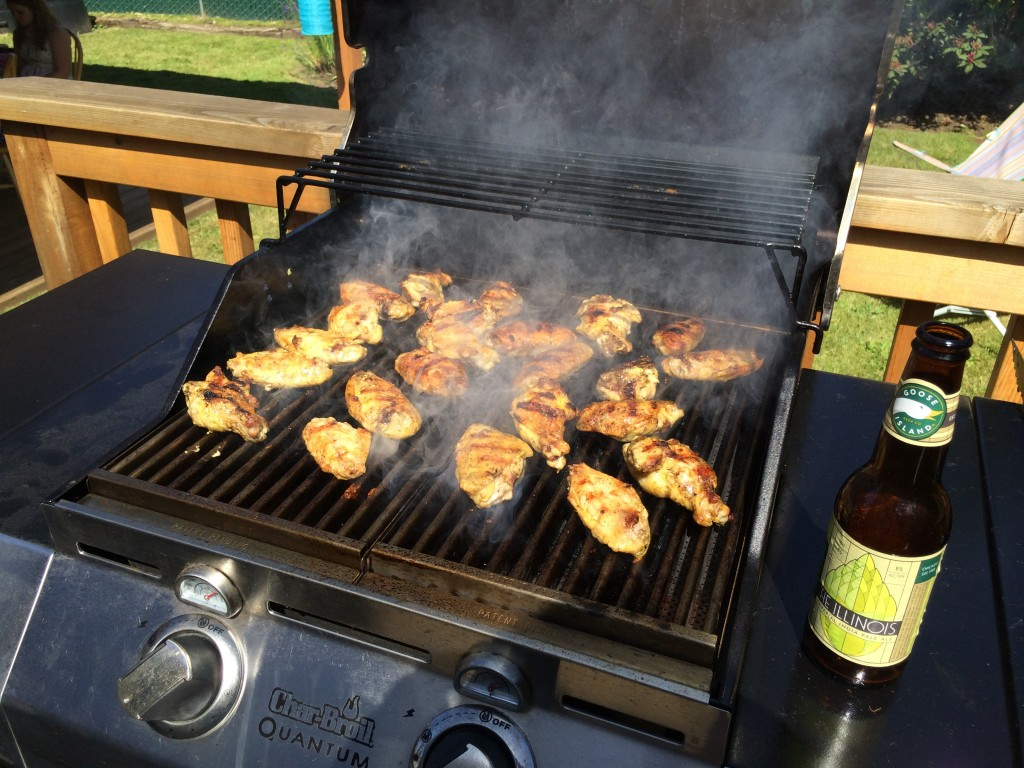 ManBQue Honey Curry Wings on the Grill