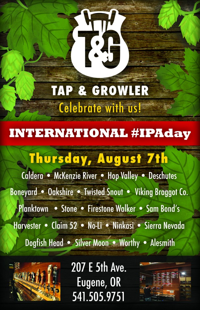 Tap & Growler IPA Day