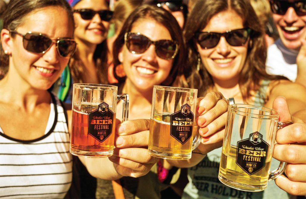 Group Shot at Whistler Village Beer Festival
