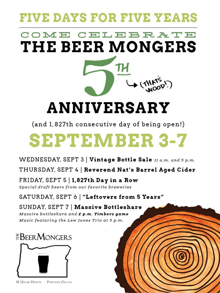 The BeerMongers 5th Anniversary