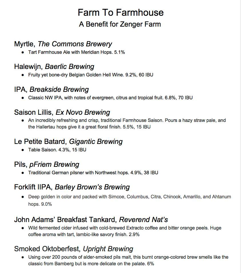 Zenger Farm Draft List