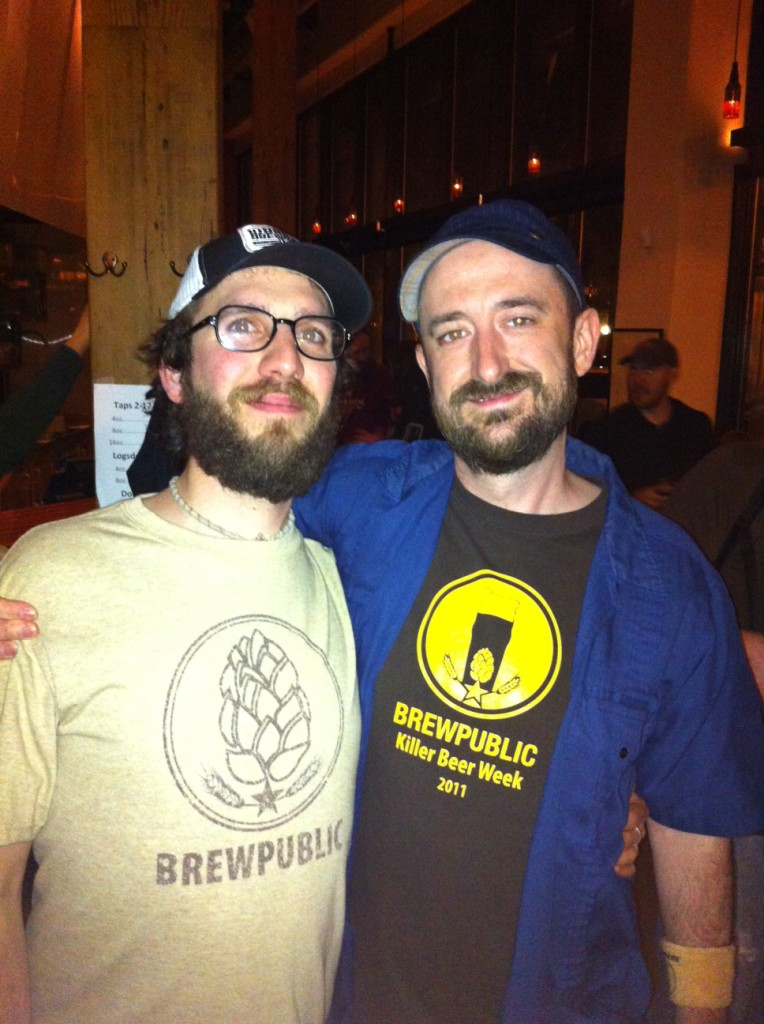 Angelo De Ieso and Aaron Miles at Bailey's Taproom