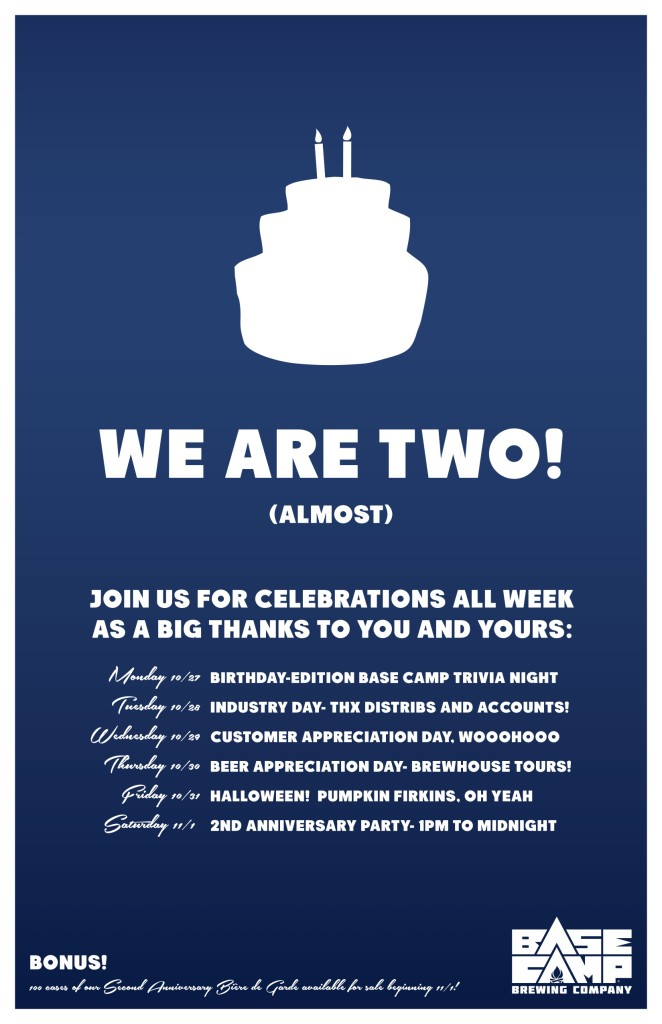 Base Camp Brewing 2nd Anniversary