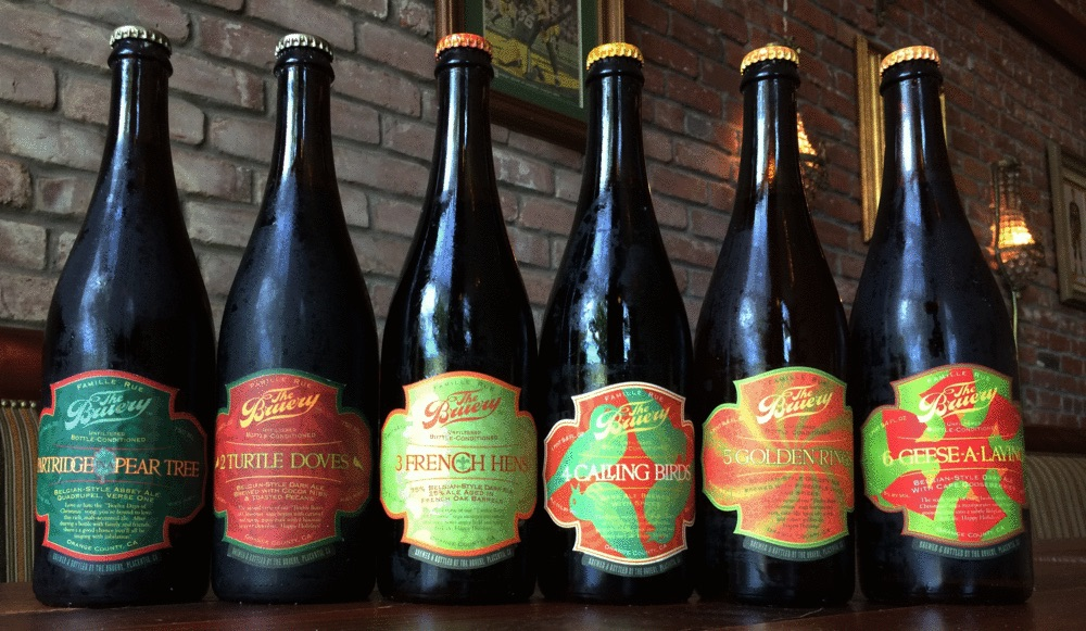 Bruery's first six Christmas beers.