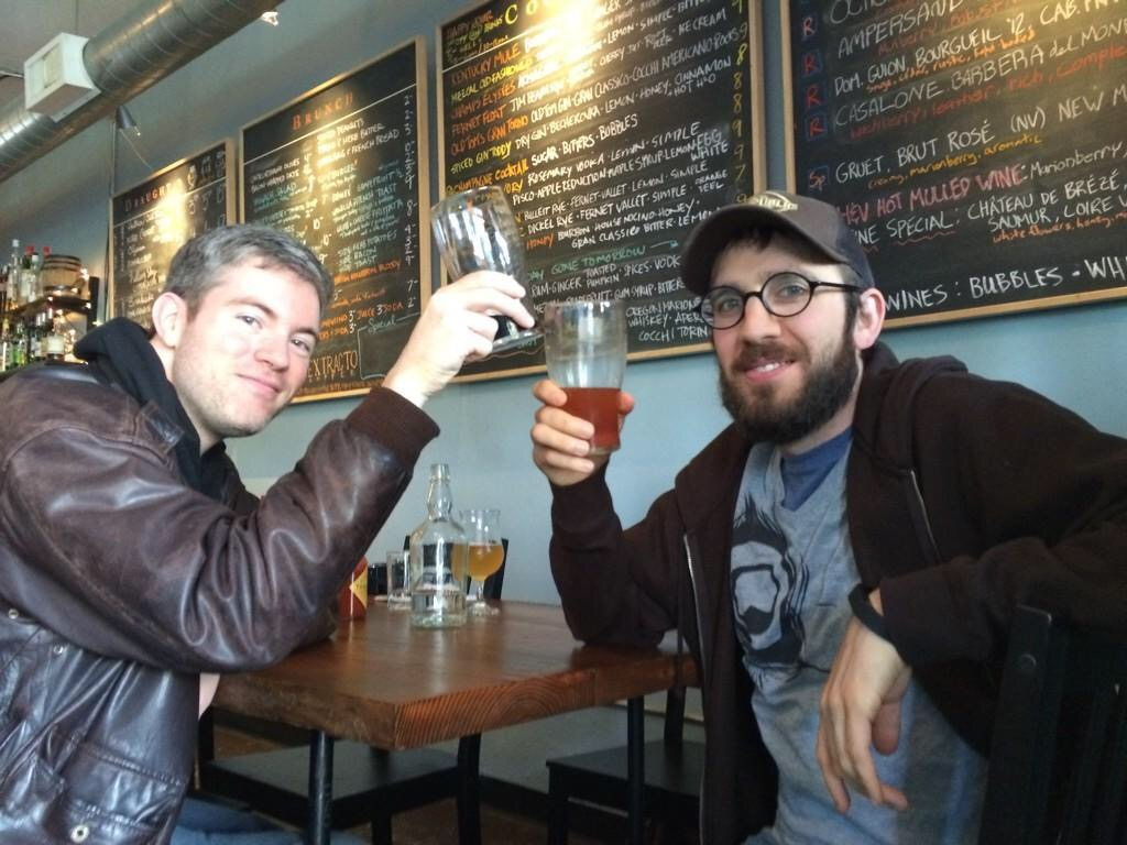 Michael O'Connor & Angelo De Ieso during Killer Beer Week (photo by Cat Stelzer)