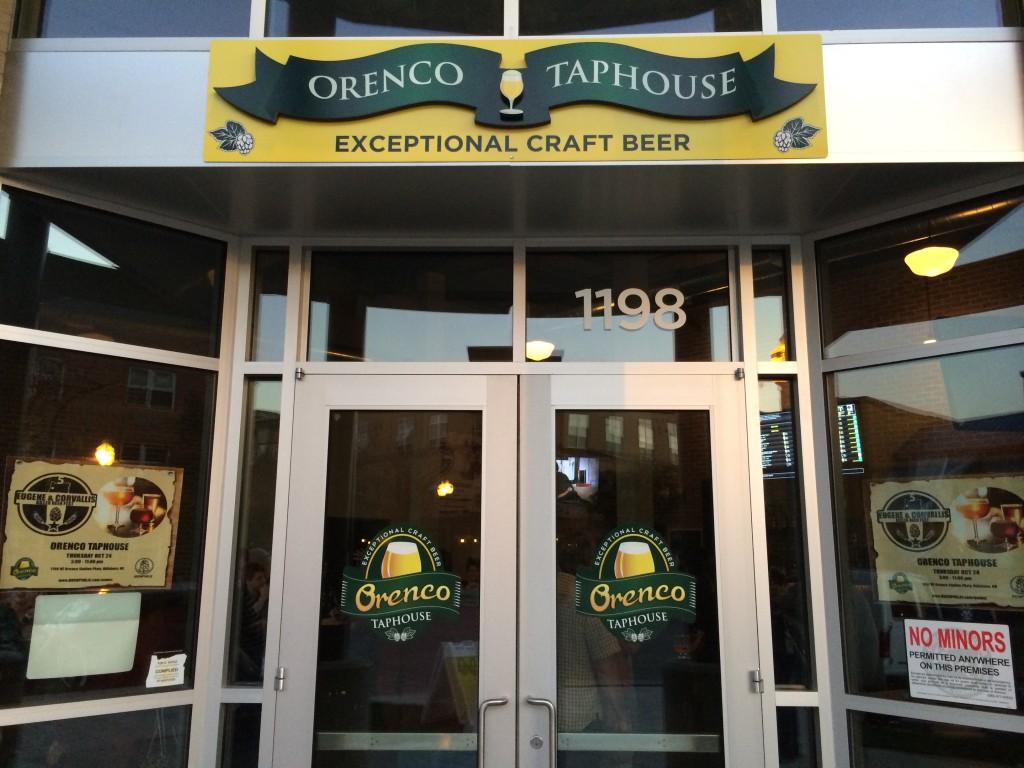 Orenco Taphouse Entryway