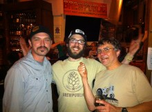 Tom Bleigh, Angelo De Ieso and Carl Singmaster (left to right) at Bailey's Taproom during a past KillerBeerFest.