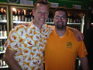 Mr. Chris Crabb (left) and Lompoc Brewer Bryan Keilty