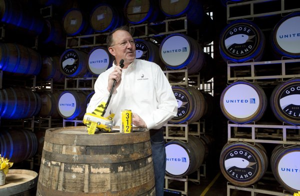 Andy Goeler CEO of Goose Island and AB/InBev craft (Photo from Yahoo News)