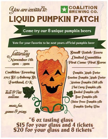 Coalition Brewing Liquid Pumpkin Patch flyer