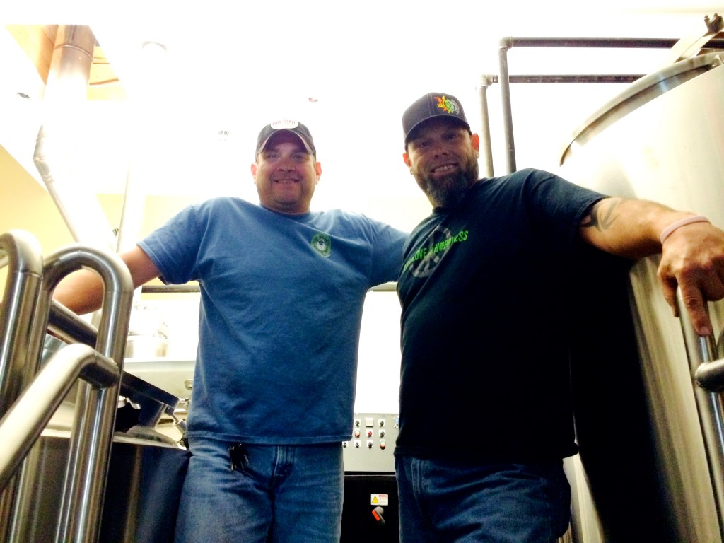 Fat Head's Brewmaster Matt Cole and Portland's Head Brewer Mike Hunsaker