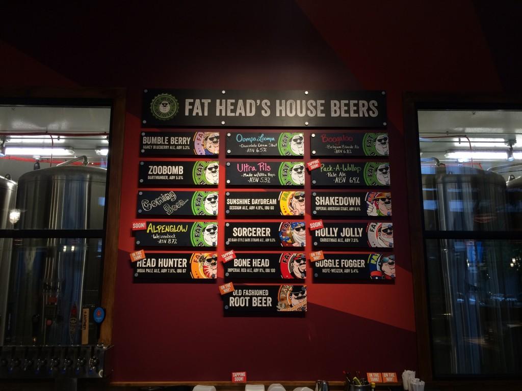 Fat Head's Portland Tap Lineup