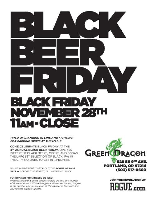 Green Dragon's Black Beer Friday
