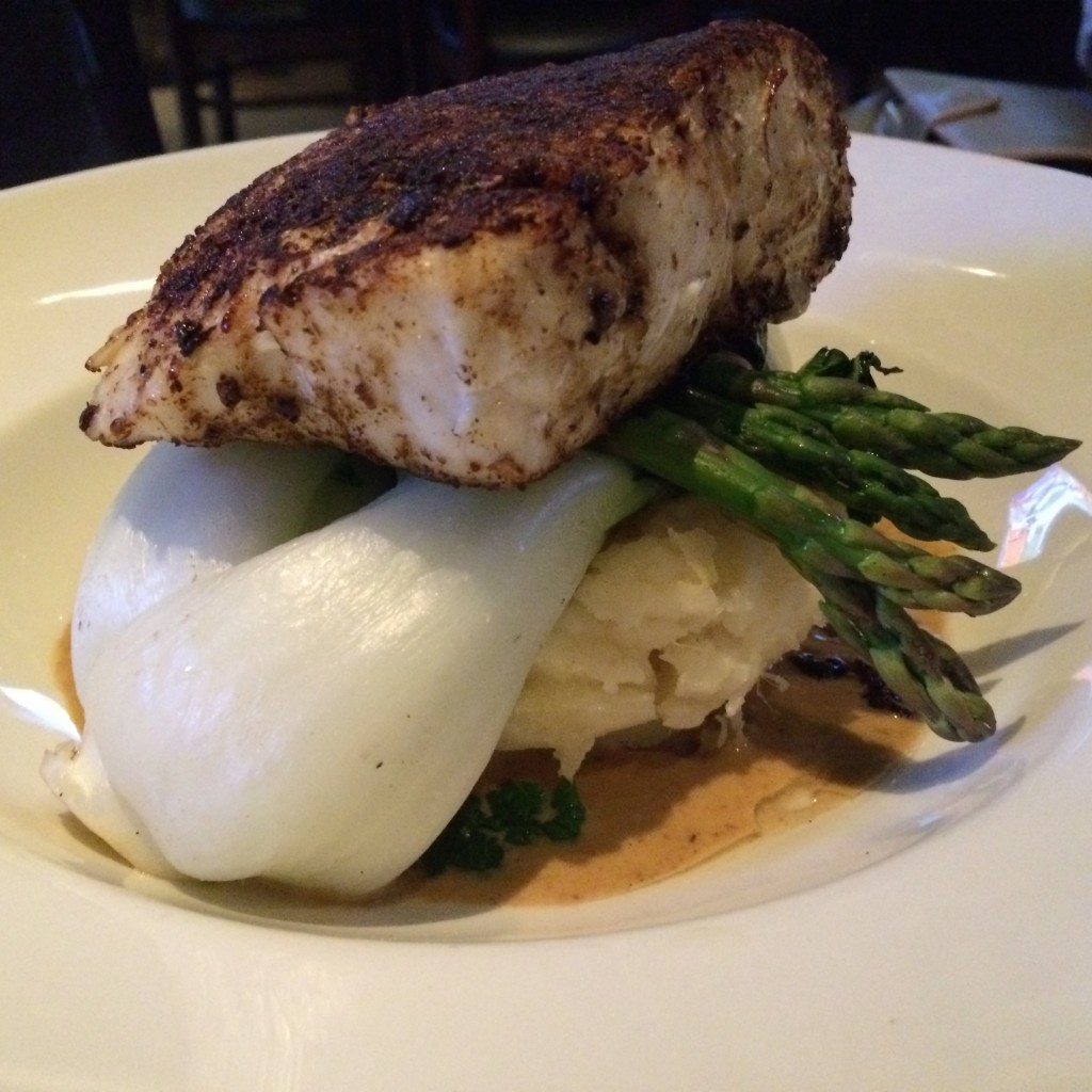 Porcini crusted halibut