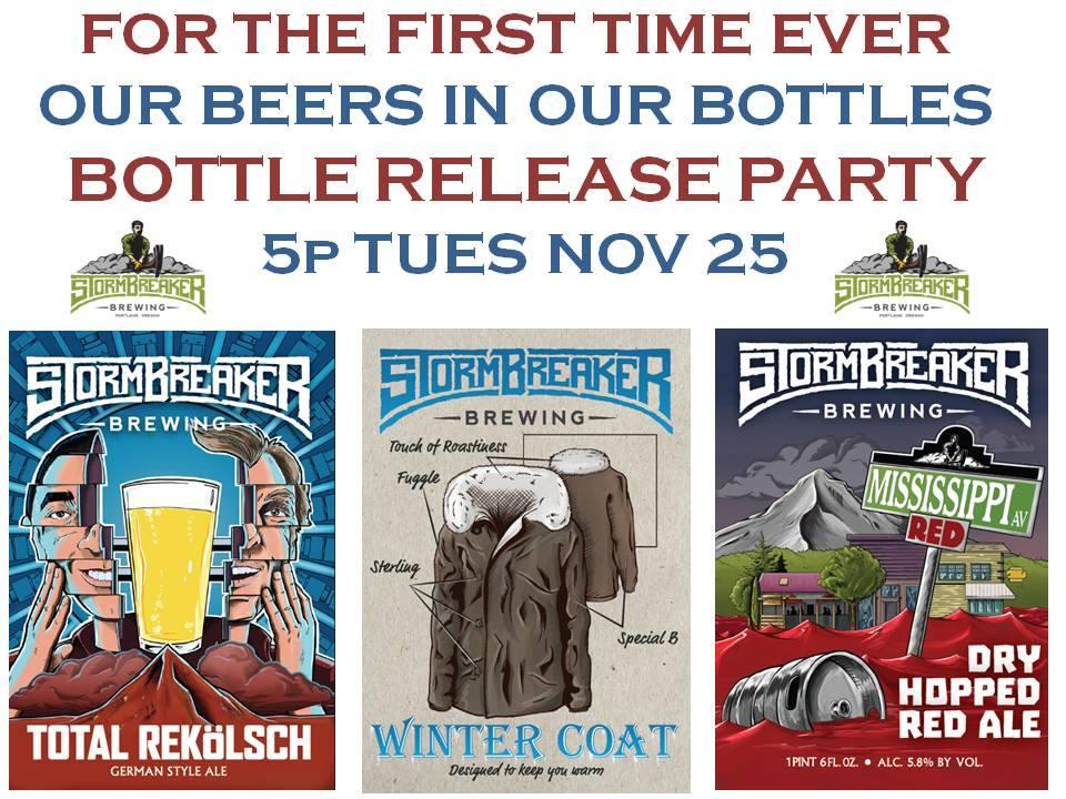 Stormbreaker Brewing Bottle Release