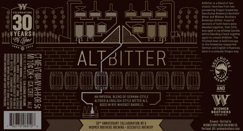 Widmer Deschutes AltBitter Label