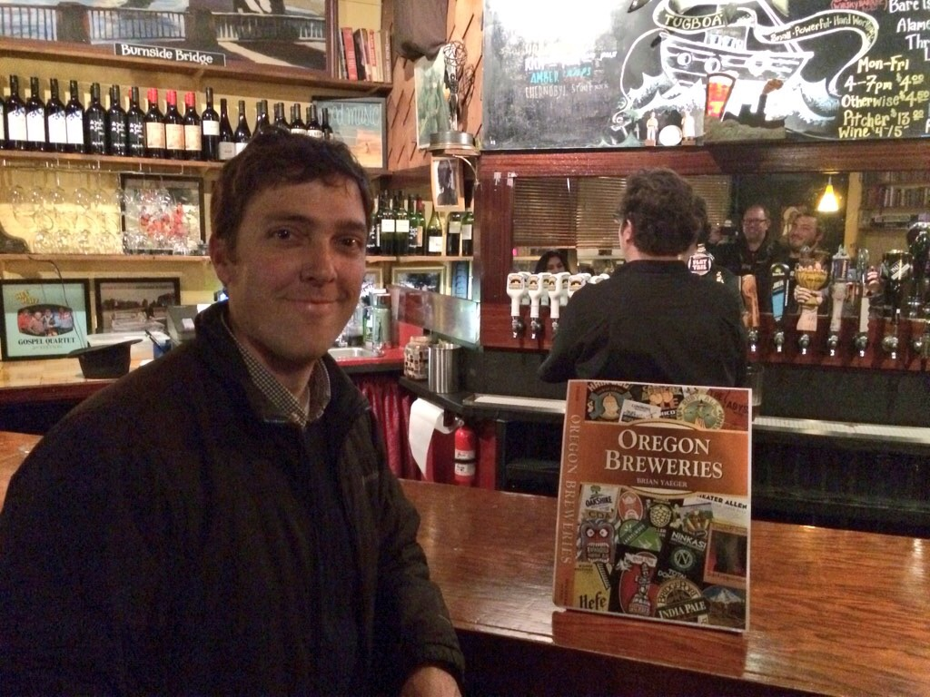 Brian Yaeger with his Oregon Breweries book