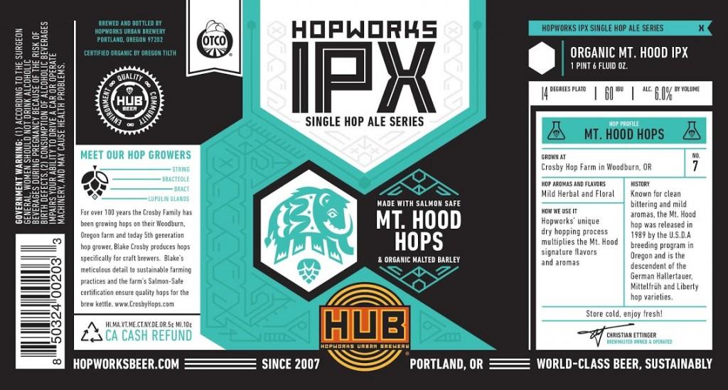Hopworks IPX Mt Hood Hops