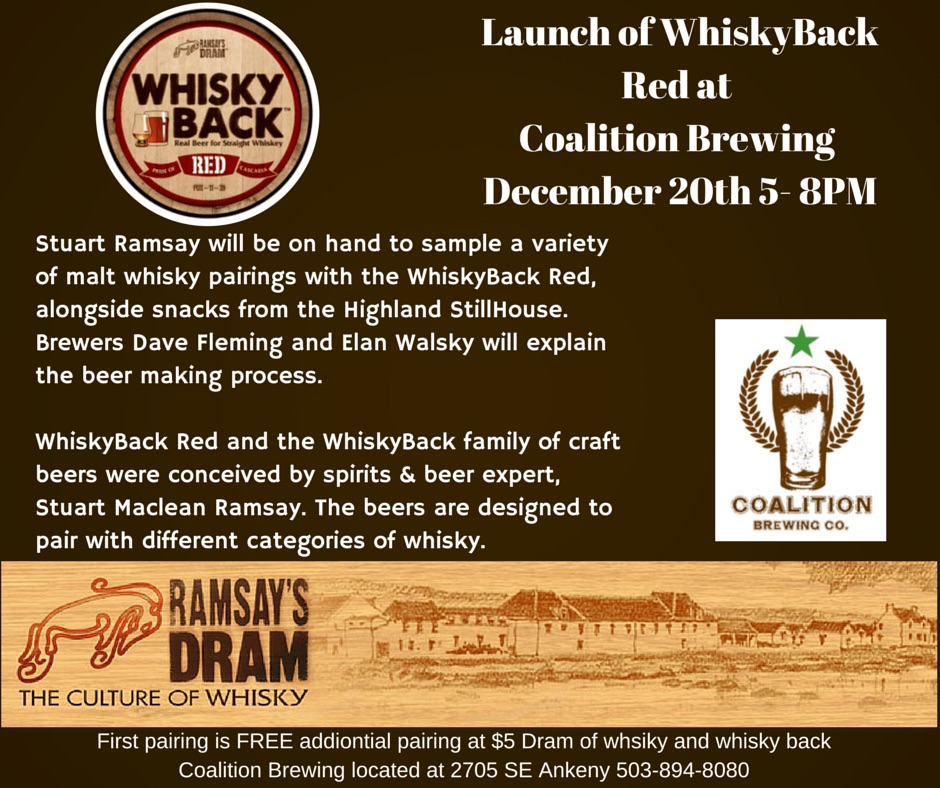 Launch of WhiskeyBack Red at Coalition Brewing