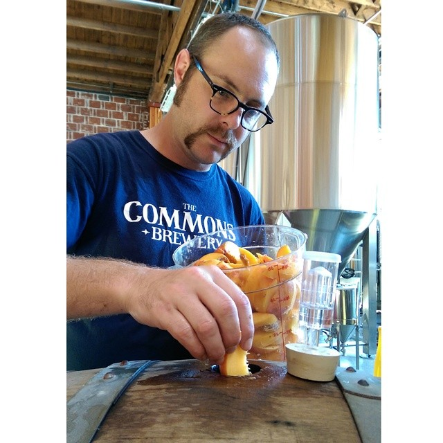 Sean Burke creating The Commons Creme de Peche