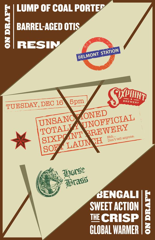 Sixpoint Brewery Release at Horse Brass Pub and Belmont Station