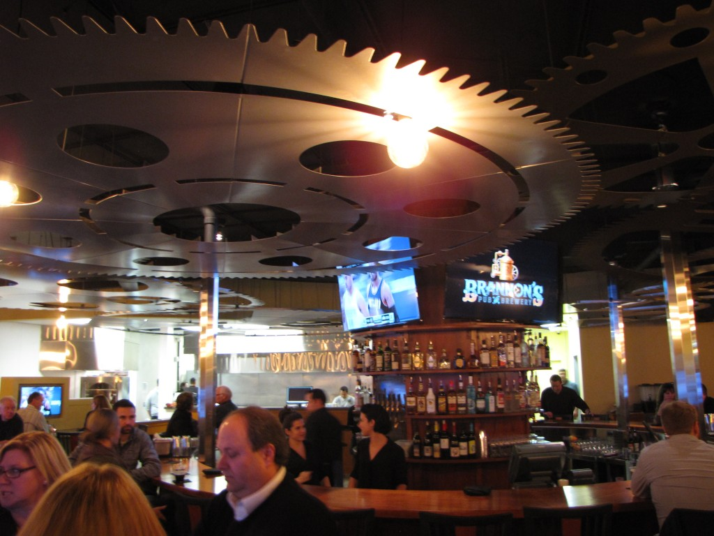 The round bar at Brannon's Pub & Brewery