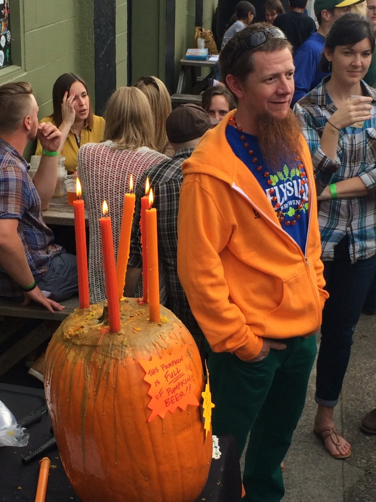 Elysian brewrer Kevin Watson at Brewpublic Killer Pumpkin Fest