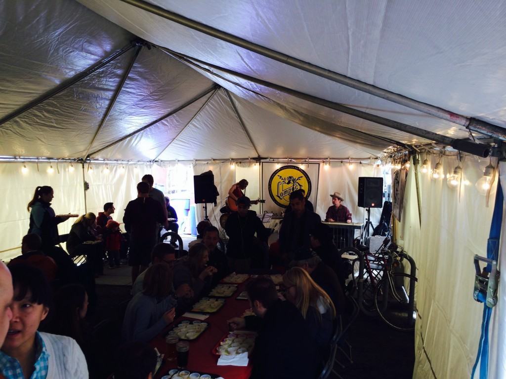 Heated Tent at Lompoc Chowder Challenge