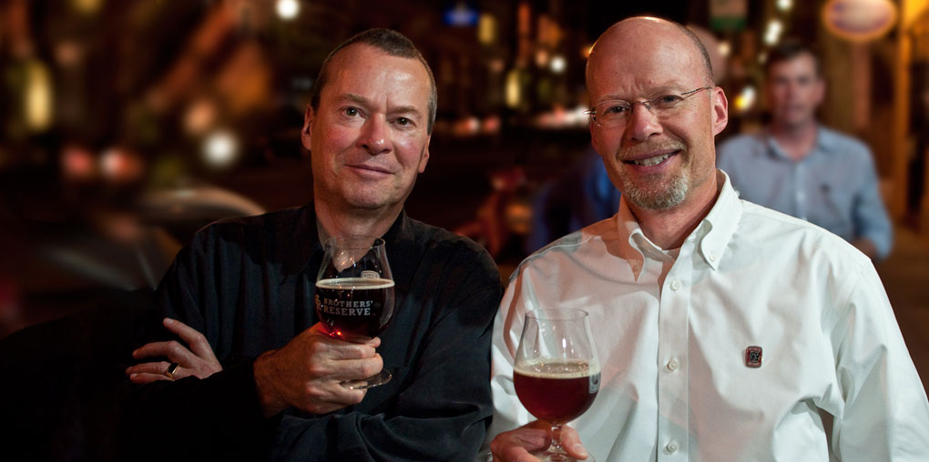 Kurt and Rob Widmer (photo courtesy of Widmer Brothers Brewing)
