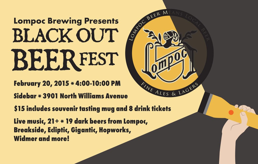 Lompoc 2015 Black Out Beer Fest
