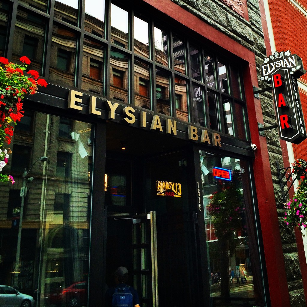 Out Front of Elysian Bar