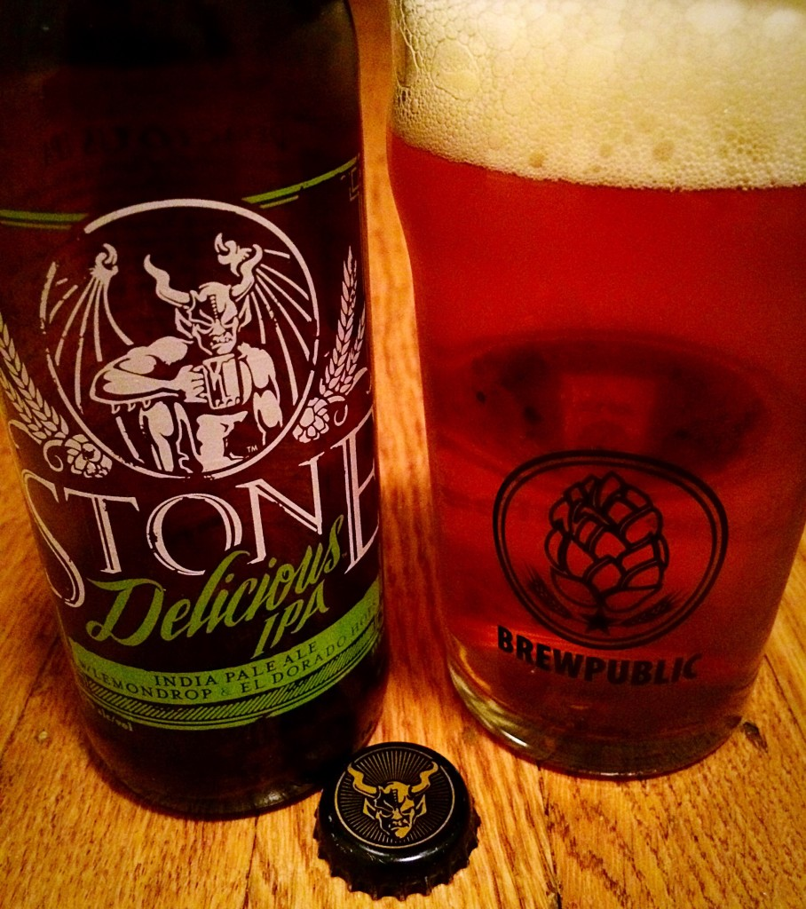Stone Delicious IPA in a Brewpublic Glass