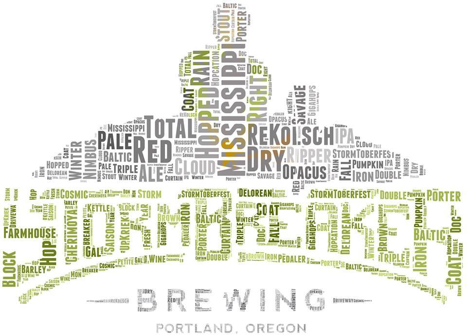 StormBreaker Beer Name Logo