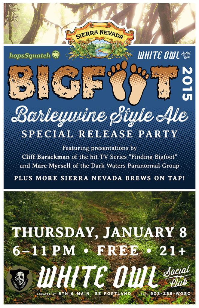 White Owl Social Club Sierra Nevada Bigfoot Barleywine Release