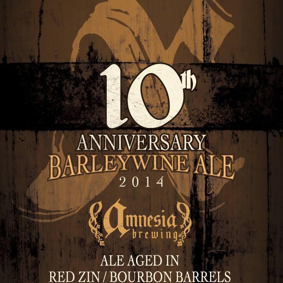 10th Anniversary Barleywine 2014 by Amnesia Brewing