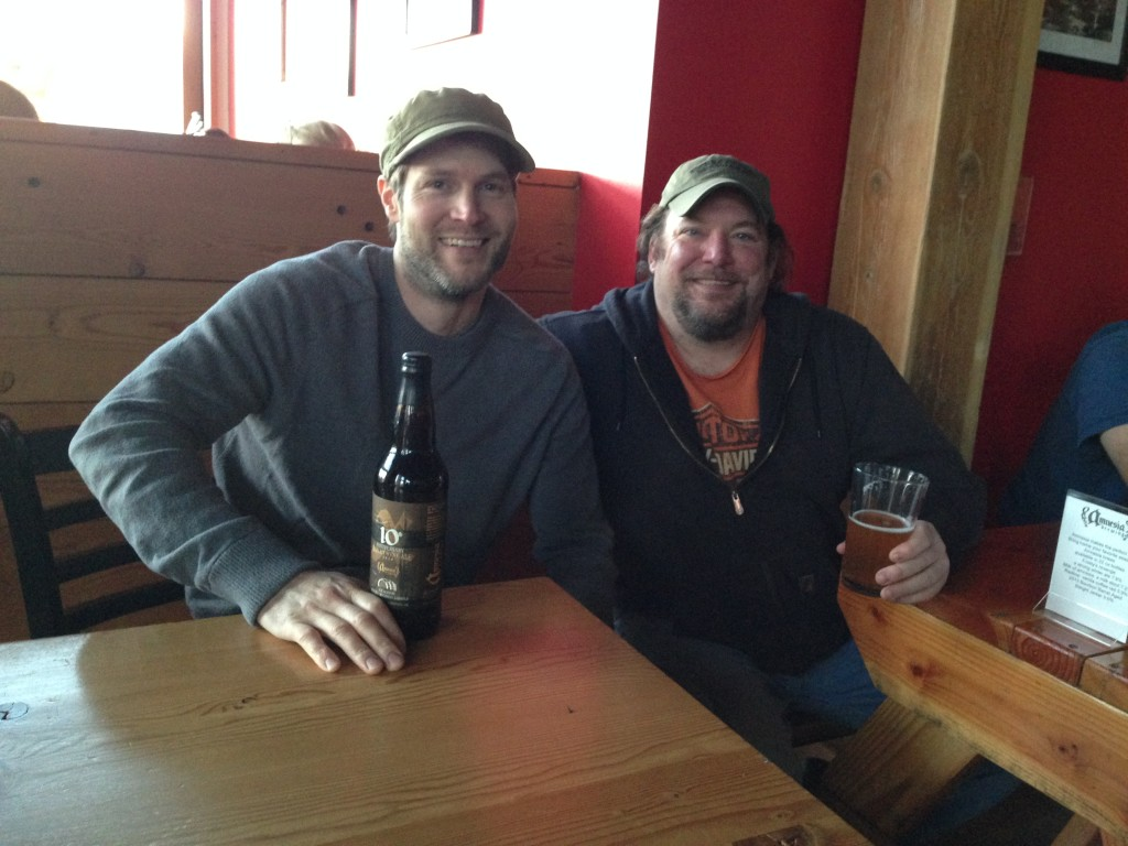 Amnesia brewers Sean Thommen (left) and founder Kevin King