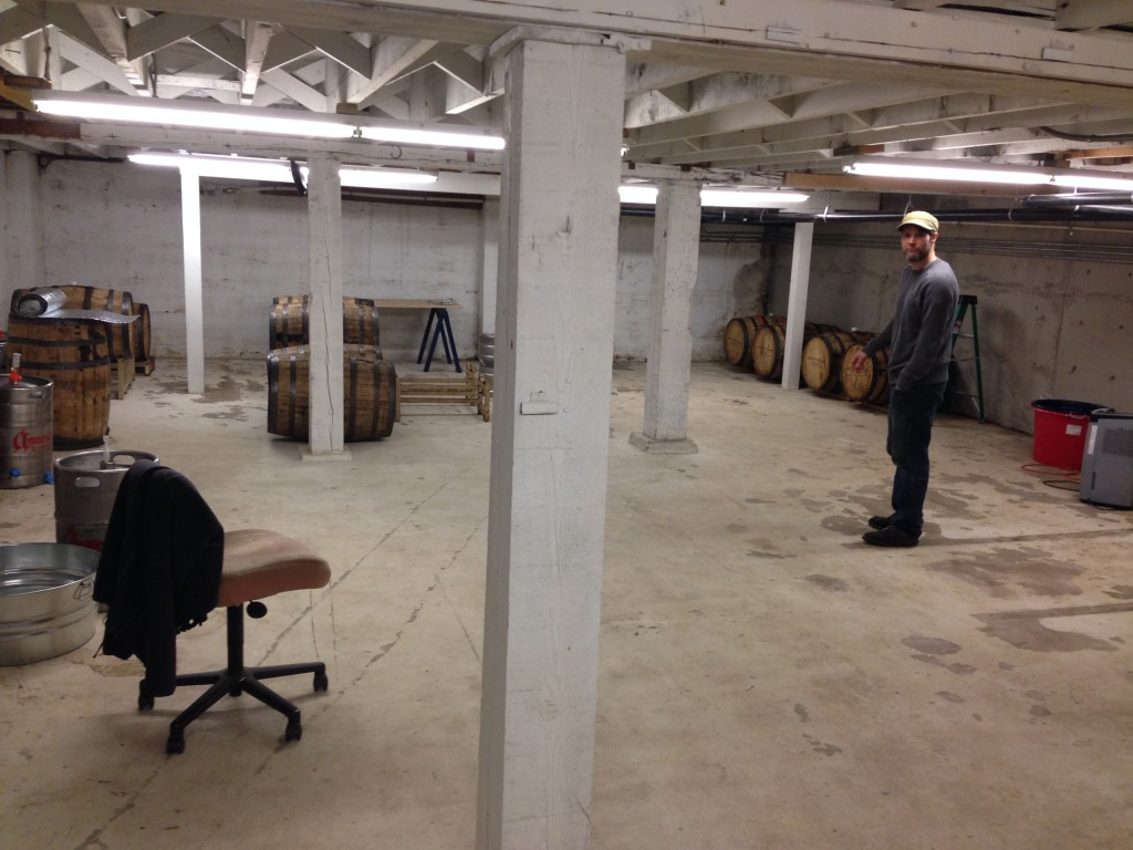 Brewer Sean Thommen of Amnesia Brewery shows us the cellars of the brewery