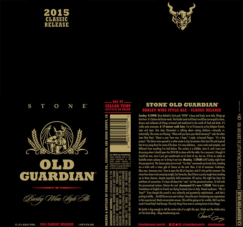 2015 Stone Old Guardian Barleywine