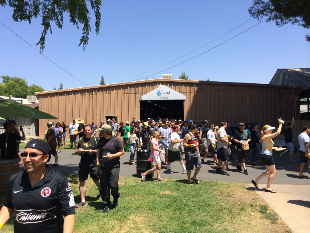 Attendees entering the 2014 Firestone Walker Invitational Beer Fest