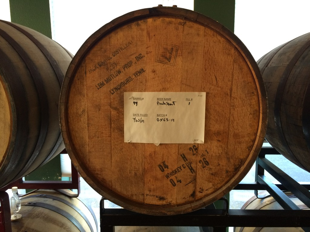Barrel Aging Pirate Stout at Santiam Brewing