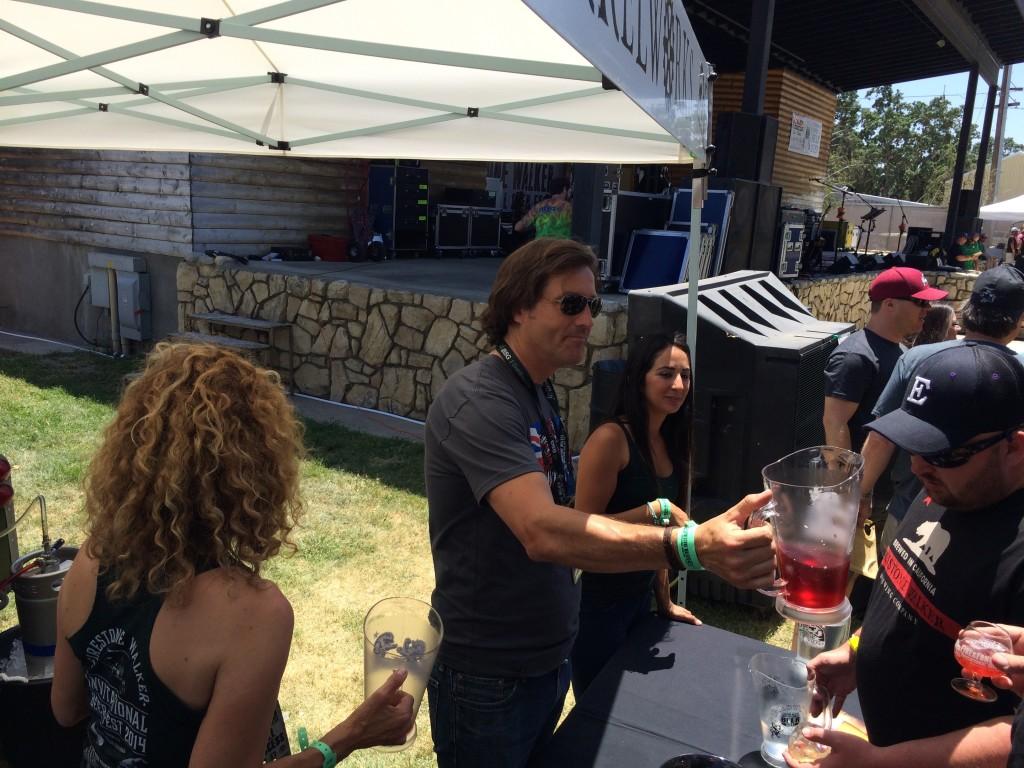 David Walker pouring at 2014 Firestone Walker Invitational Beer Fest