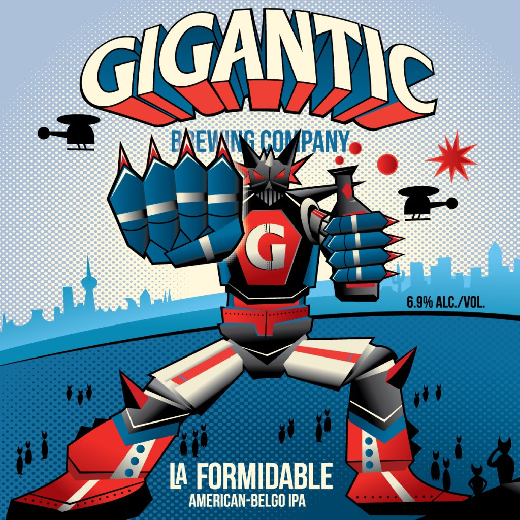 Gigantic Brewing & Beau's Berwery La Formidable American-Belgo IPA Label