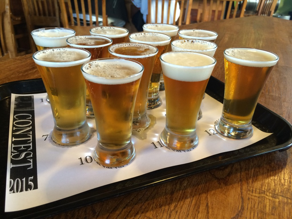 Hawthorne Hophouse IPA CHallenge Taster Tray