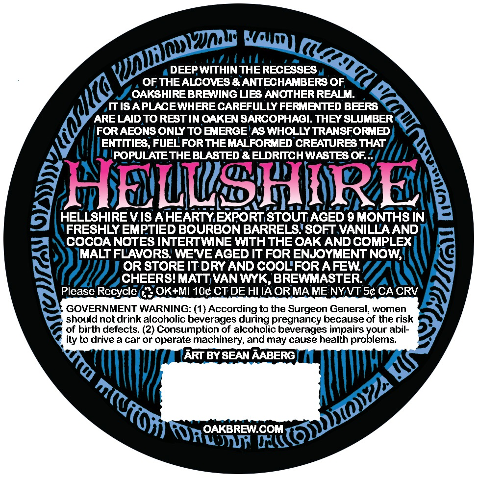 Hellshire V Back Label from Oakshire Brewing