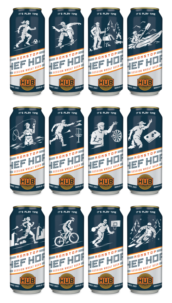 Nonstop Hef Hop Cans Stacked