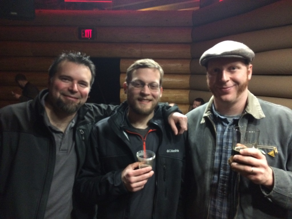 Beerlebrities Ritch Marvin, Kerry Finsand and El Gordo at the Oregon Beer Awards