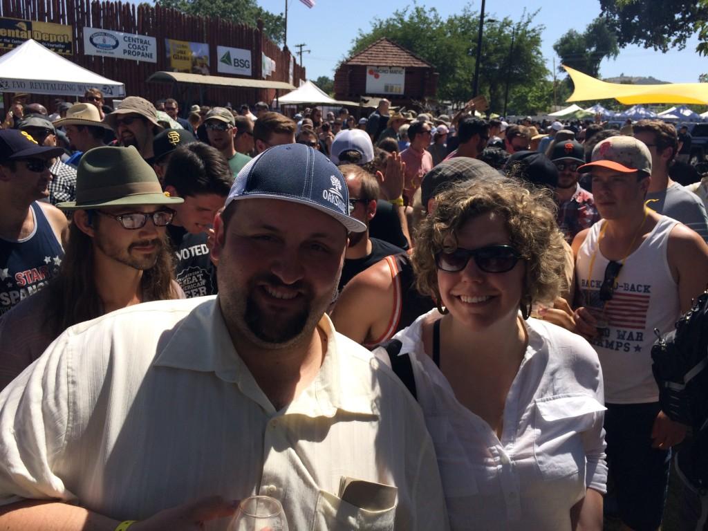 Theo & Amanda Skourtis at 2014 Firestone Walker Invitational Beer Fest