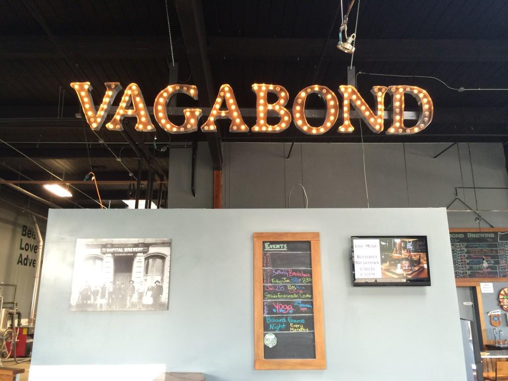 Vagabond Brewing Lights in Taproom